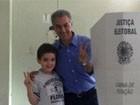Reinaldo vota em Campo Grande  (Lucas Lourenço)