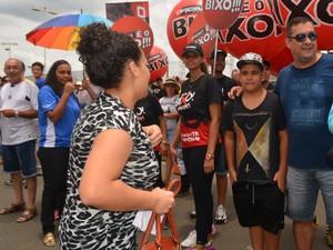 Alessandra Branco de Sousa chegou atrasada para prova do vestibular da Unicamp em Campinas (SP) (Foto: Marina Ortiz/ G1)