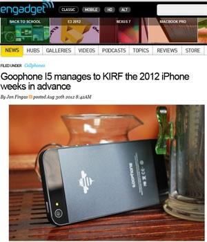 Cópia 'GooPhone i5' foi criado baseado nos rumores sobre o iPhone 5 (Foto: Reprodução)