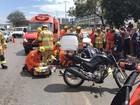 Idosa é atropelada por motocicleta em Taguatinga, no DF