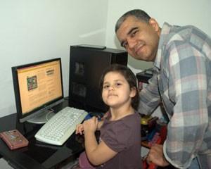 Marcio Guedes e a filha caçula (Foto: Arquivo Pessoal)