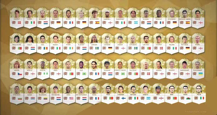 Lista completa de Fifa 17 tem nomes como Pelé, Roberto Carlos e Van Basten (Foto: Divulgação/EA Sports)