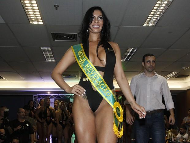 Kelly Silva, do Rio Grande do Norte, é eleita Musa Revelação no Musa do Brasil em São Paulo (Foto: Celso Tavares/ EGO)