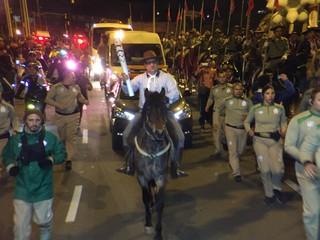 tocha olímpica, tour da tocha, porto alegre, rio grande do sul, cavalos, borghettinho (Foto: Pedro Veríssimo / GloboEsporte.com)