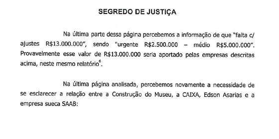 Trecho de relatório da PF obtido por Época (Foto: Reprodução)
