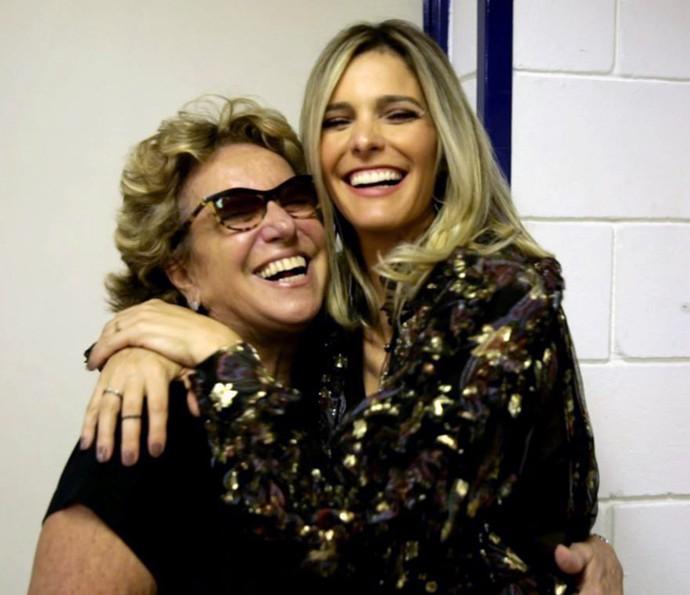 Fernanda Lima se orgulha do espírito aventureiro da mãe, Maria Tereza (Foto: Gshow)