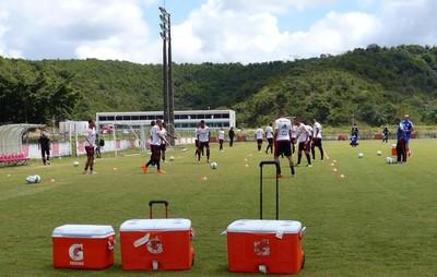 Flamengo treina em Recife (Foto: Fred Gomes/ GloboEsporte.com)