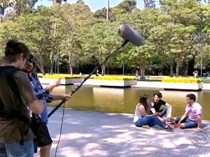 Vídeo de fim de ano é gravado na Redenção (Foto: Reprodução/RBS TV)