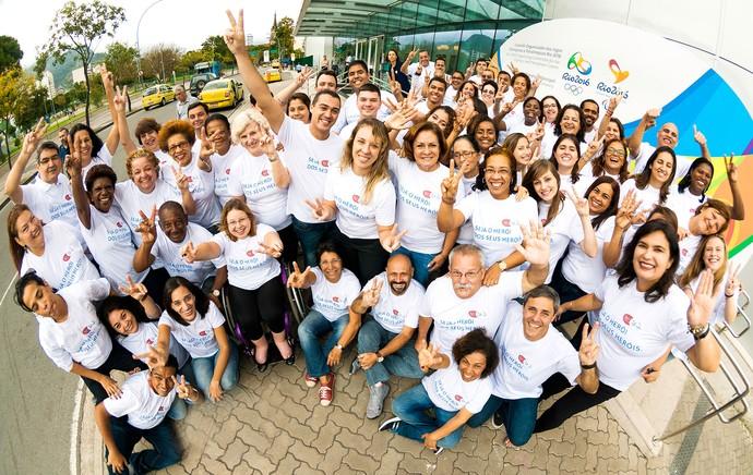 Voluntários Rio 2016 (Foto: Divulgação / Rio 2016)