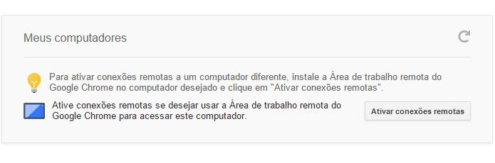 Ativando conexão remota do computador (Foto: Reprodução/Helito Bijora)