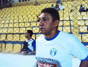 Erasmo Fortes, técnico do BEC, comemorou vitória diante do Maranhão (Foto: Afonso Diniz/Globoesporte.com)