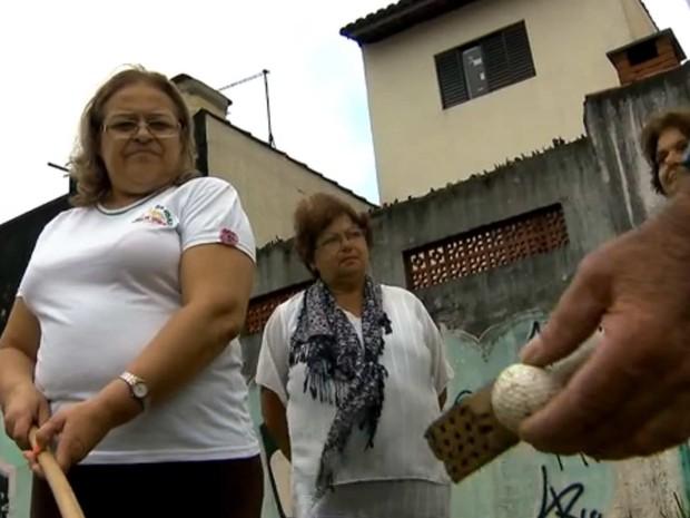 Golfe com improviso e bom humor em São Bernardo. (Foto: Reprodução/TV Globo)