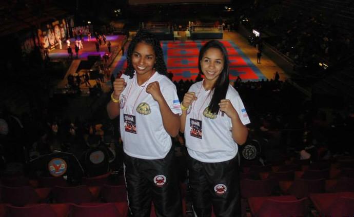 As irmãs colatinenses Meiry Ellenn Porto e Kyscila Karenn Porto representam o ES no Brasileiro de kickboxing (Foto: Divulgação/Arquivo Pessoal)