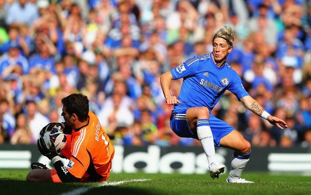 Fernando Torres Chelsea x Stoke (Foto: Getty Images)