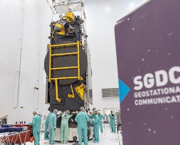 SGDC, satélite brasileiro, será lançado na Guiana Francesa (Foto: Divulgação)