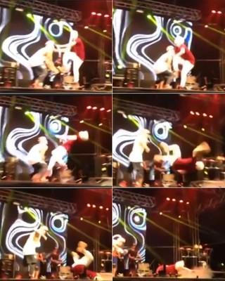 MC Gui caindo (Foto: Reprodução / Facebook)