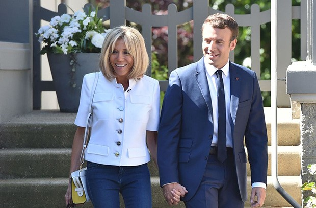 Brigitte and Emmanuel Macron (Foto: GETTY)