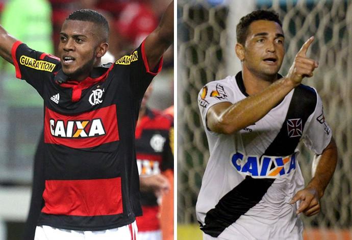 Marcelo Cirino x Gilberto - Flamengo x Vasco (Foto: infoesporte)