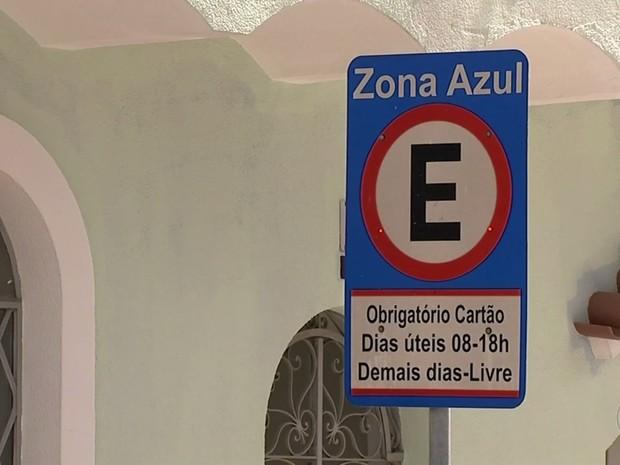 Objetivo com a volta da Zona Azul é otimizar as vagas de estacionamento (Foto: Reprodução/TV TEM)