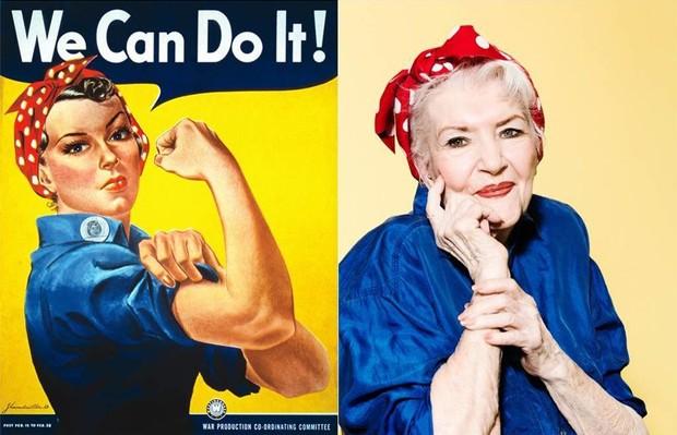 Naomi Parker Fraley inspirou ícone do feminismo Rosie the Riveter (Foto: People)