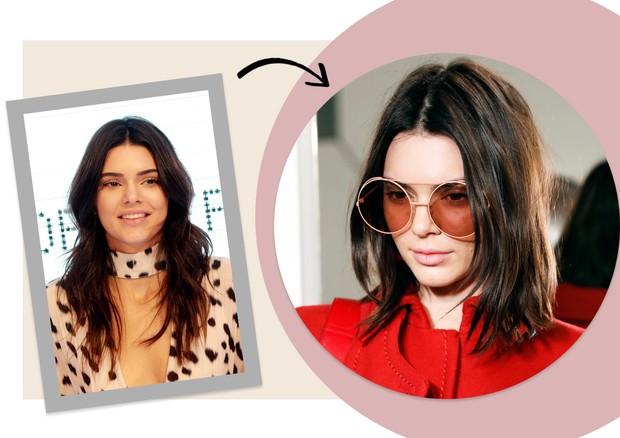 Cortes de cabelo: Kendall Jenner (Foto: Getty Images)