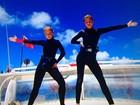 Grazi Massafera e Angélica mergulham nas águas de Noronha
