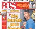 """Estou completamente descartado da Supercopa"", avisa Cristiano Ronaldo"