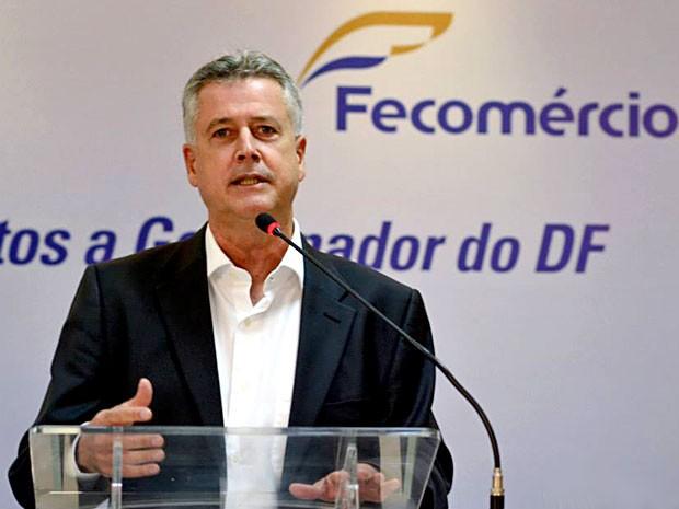 O candidato Rodrigo Rollemberg (PSB) durante sabatina na Fecomércio do DF (Foto: Cristiano Costa/Fecomércio/Divulgação)