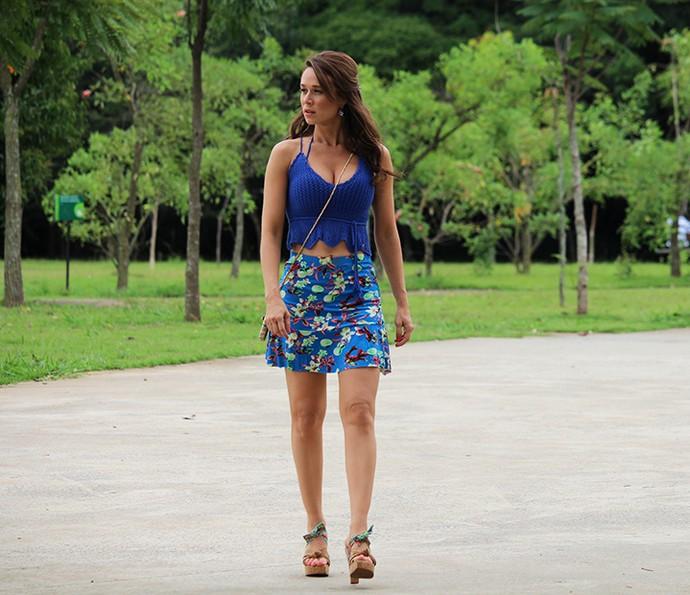 Mariana Ximenes grava primeiras cenas de Haja Coração como Tancinha (Foto: Ariane Ducati / Gshow)