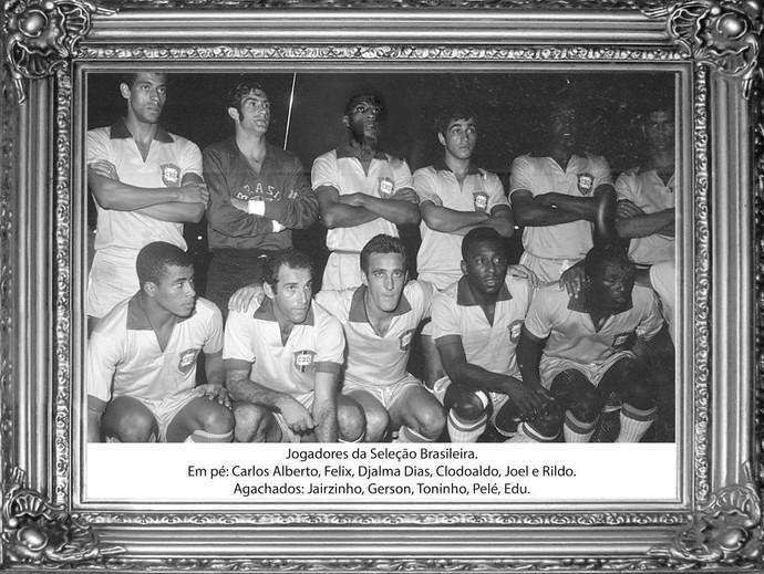 Seleção brasileira no jogo de inauguração do Batistão, em 1970 (Foto: Arquivo/FSF)
