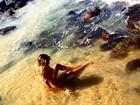 Luize Altenhofen posta foto em praia paradisíaca: 'Mais que especial'