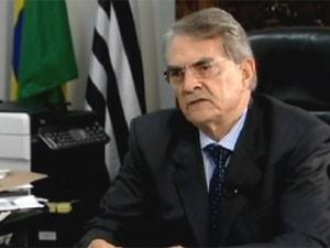 Secretário da Segurança, Antonio Ferreira Pinto (Foto: Reprodução/TV Globo)