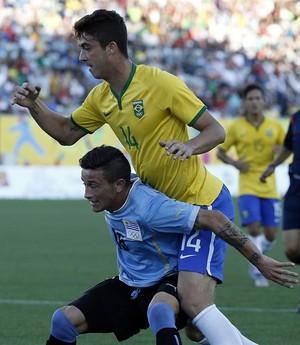 Nicolás Albarracin Uruguai Brasil futebol Pan (Foto: EFE/Javier Etxezarreta)