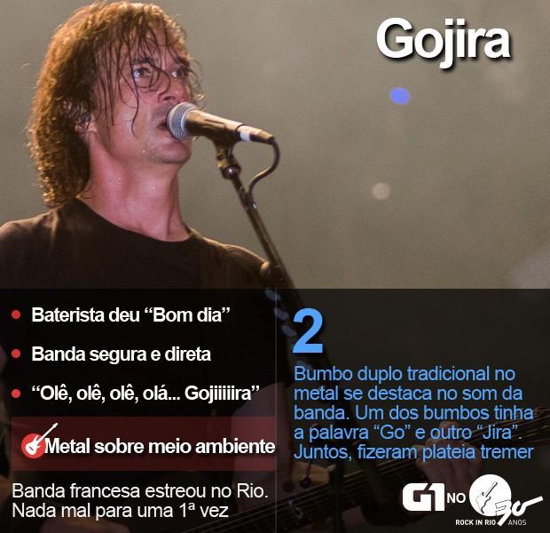 Gojira faz show no Palco Mundo do Rock in Rio (Foto: Luciano Oliveira/G1)