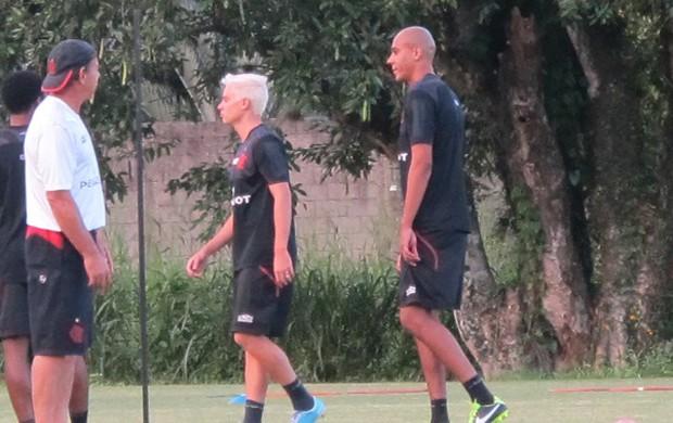 Adryan e Alex Silva Flamengo treino (Foto: Richard Souza)