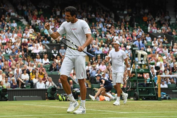 Marcelo Melo Kubot final duplas Wimbledon (Foto: Glyn Kirk / AFP)
