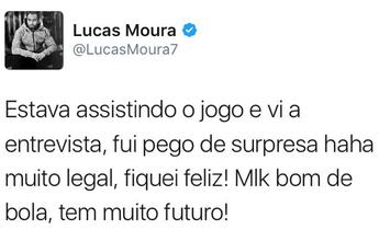 Promessa do São Paulo, Marquinhos Cipriano ganha elogio de Lucas Moura