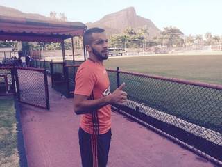 Canteros Flamengo treino (Foto: Monique Silva)