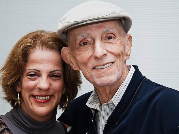 Rubem Alves com sua filha Raquel  (Foto: Cláudio Araújo)