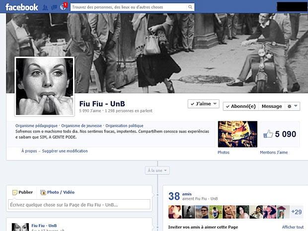 Em menos de um mês, página criada por estudantes da UNB numa rede social recebeu 152 mensagens e ganhou 5.087 seguidores. (Foto: Facebook / Reprodução)