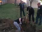 Ex-colegas falham em tentar achar cápsula do tempo enterrada em 1976