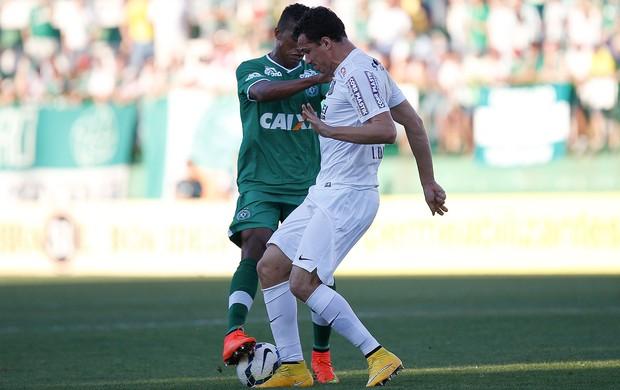 Leandro Damião e Abuda, Chapecoense x Santos  (Foto: Marcio Cunha / Agência Estado)