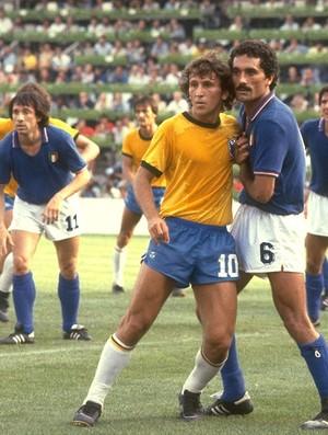 Zico, Copa 1982, Brasil x Itália (Foto: Agência Getty Images)