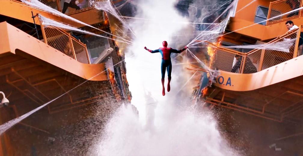 Tom Holland e 'Homem-Aranha: De volta ao lar' (Foto: Divulgação)