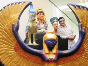 Exposição do artista egípcio Essam Elbatram  mostra o Antigo Egito (Foto: Divulgação)