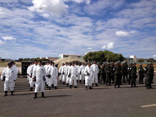 Grupo de Defesa Química, Biológica, Radiológica e Nuclear do Comando Militar do Planalto (Foto: Felipe Néri / G1)