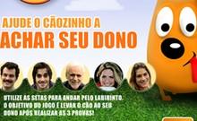 O bichinho quer achar o elenco e precisa de ajuda (Domingão do Faustão/TV Globo)