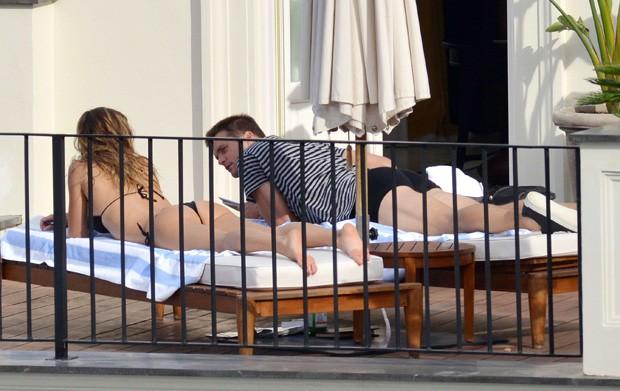 Gisele Bündchen e Tom Brady (Foto: Grosby Group)
