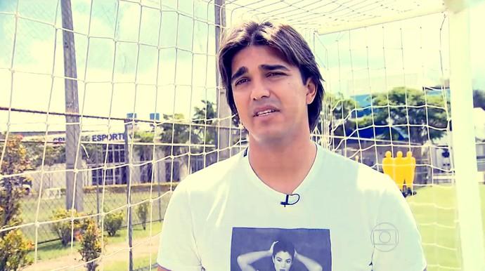 Marcelo Moreno conversou com a reportagem do Esporte Espetacular (Foto: Reprodução TV Globo)