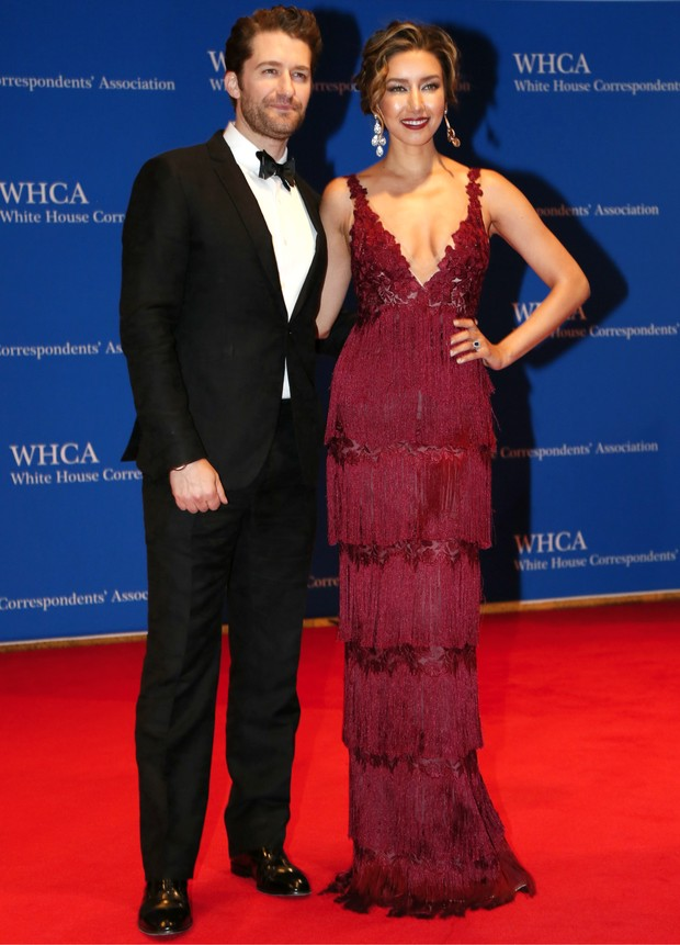 White House Correspondent's Dinner - Mathew Morrison e Renee Puente (Foto: Getty Images)